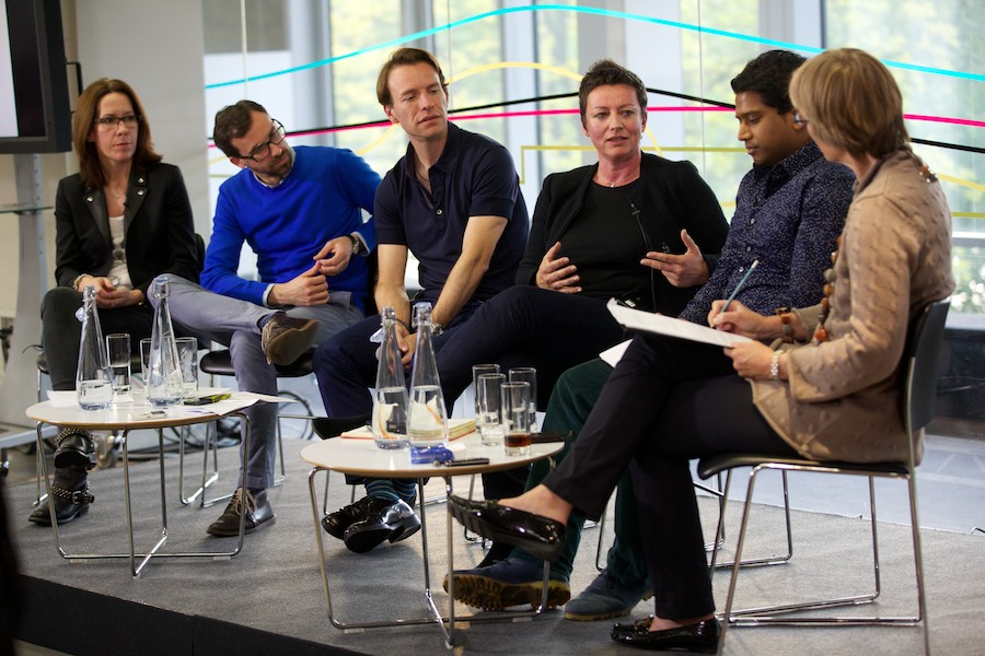The team behind London Live speaking at an RTS event earlier this year