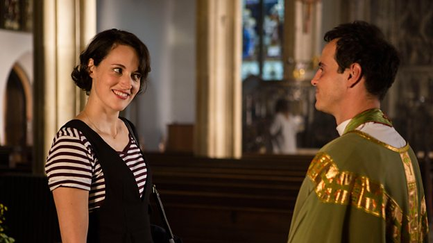 Phoebe Waller Bridge and Andrew Scott (Credit: BBC)