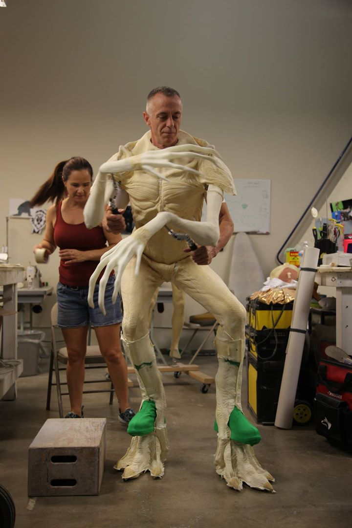 Mark Steger in The Demogorgon body suit (Credit: Spectral Motion/Netflix)