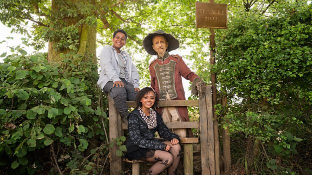 India Brown, Thierry Wickens and Mackenzie Crook (Credit: BBC)