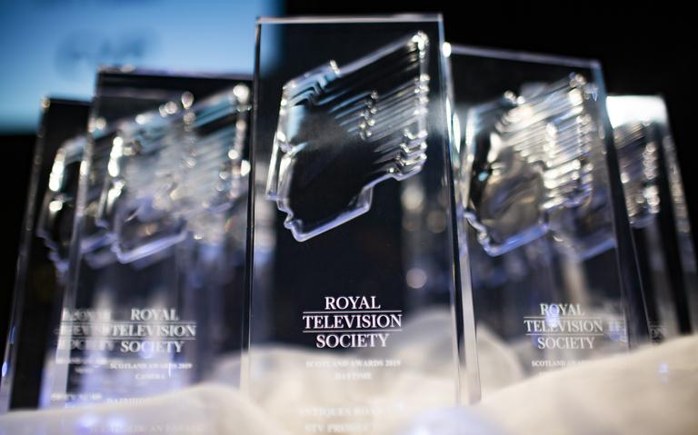 RTS Scotland Award trophy