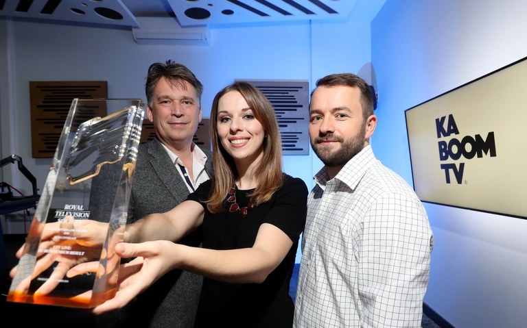 Richard Williams, Northern Ireland Screen, Sarah McCaffrey, RTS NI and Zach Willis, Ka-Boom