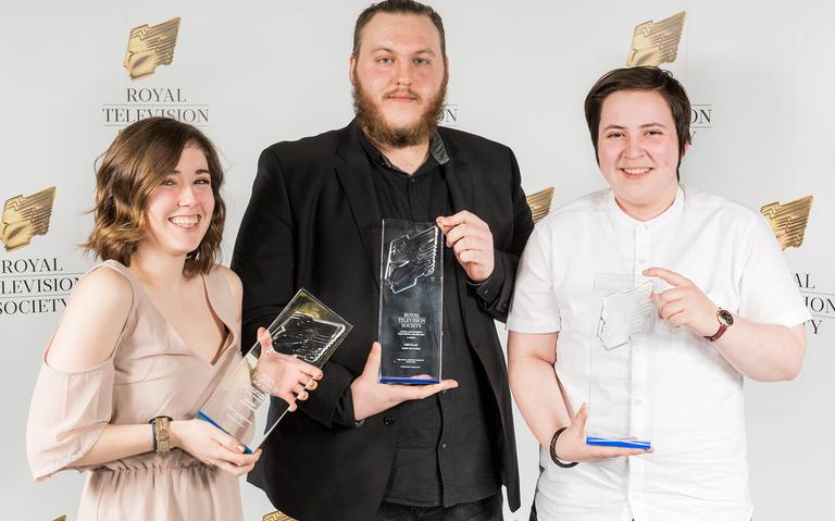 (L-R) Aurora Gibson, James McAlpine and Marsaili Stewart-Skinner, winners of the craft awards
