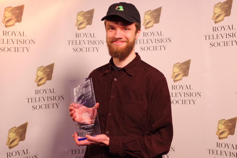 Animation winner Grant Holden from ECA