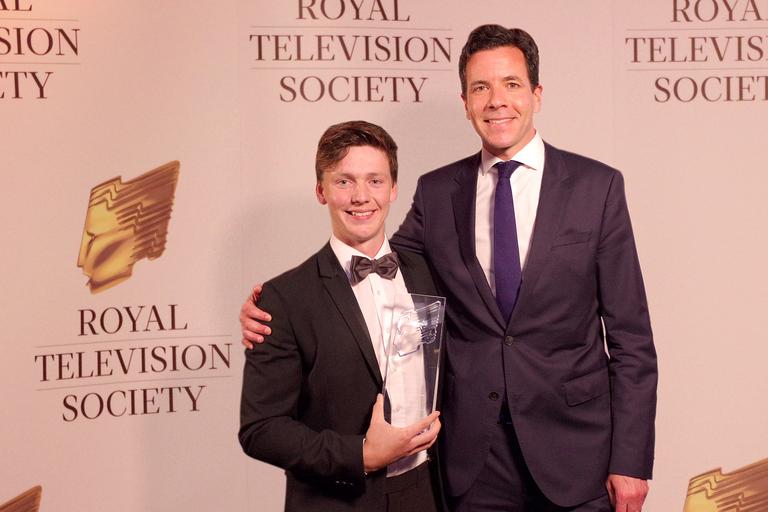 Johnstone Macpherson-Stewart and STV CEO Simon Pitts