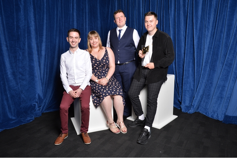 Jesse Hargrave, Adam Polley, Curtis Stephan, Stacey Willis and Lewis Woolcock (Credit: Richard Kendal/RTS)