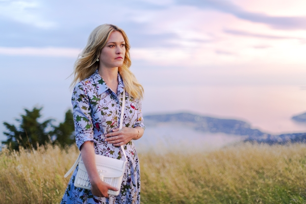 Julia Stiles as Georgina Clios in Riviera (Credit: Sky Atlantic)