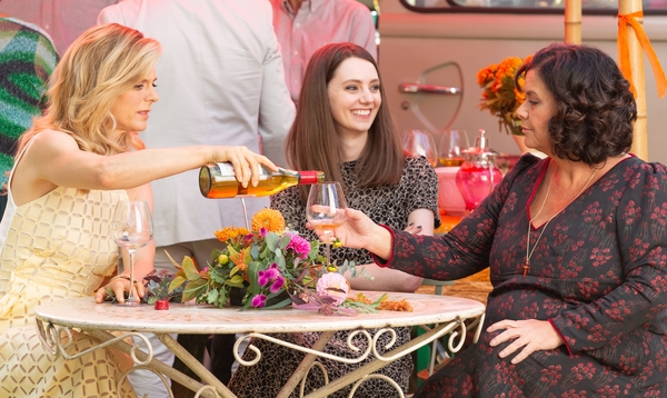 Sam (Emilia Fox), Teresa (Tanya Reynolds) and Gina (Dawn French) (Credit: Sky)