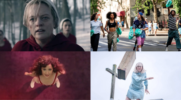 Clockwise L-R: Handmaid's Tale (Credit: Channel 4), Betty (Credit: Sky Comedy), Ridley Road (Credit: BBC), Physical (Credit: Apple TV)
