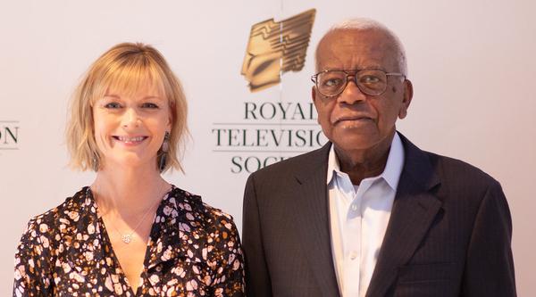 Sir Trevor McDonald and Julie Etchingham (Credit: Claire Harrison)