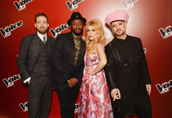 The Voice UK, 2016, judges, Boy George, Paloma Faith, Ricky Wilson, Will.i.am, singers, talent, entertainment, television, BBC, ITV,