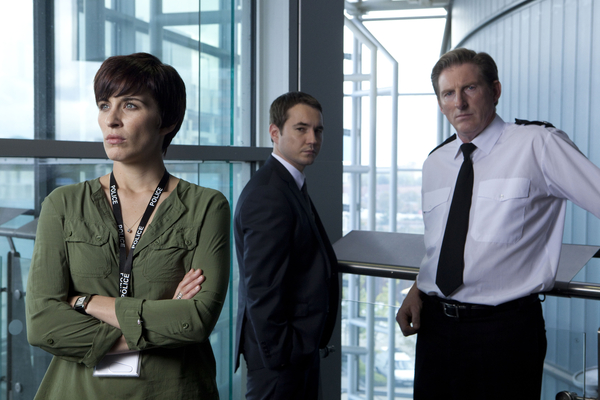 Vicky McClure, Martin Compston and Adrian Dunbar in line of Duty (credit: BBC)