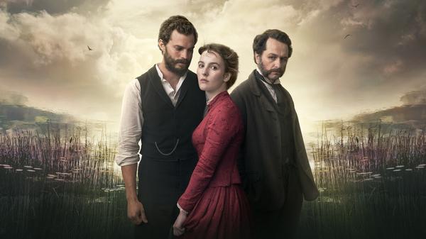 Billy Winters (Matthew Rhys), Beth Winters (Ann Skelly), Liam Ward (Jamie Dornan) in Death and Nightingales (Credit: BBC/Night Flight Pictures Ltd 2018/Helen Sloan)