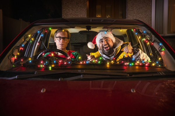 Andrew (Stephen Merchant) and Dev (Asim Chaudhry) (Credit: BBC/BBC Studios)