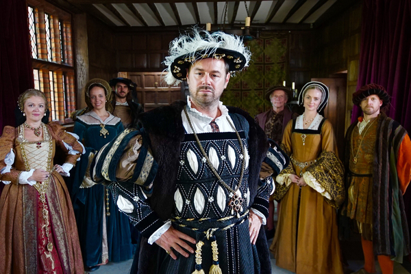 Danny Dyer dressed as a Tudor courtier in the era of his ancestor Sir John Seymour (Credit: BBC/Wall to Wall Media/Jack Coathupe)