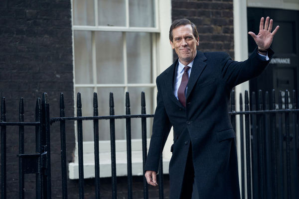 Hugh Laurie as Peter Laurence in Roadkill (credit: BBC)