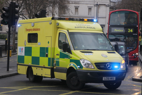 London ambulance (credit: Flickr/eastleighbusman via Creative Commons)