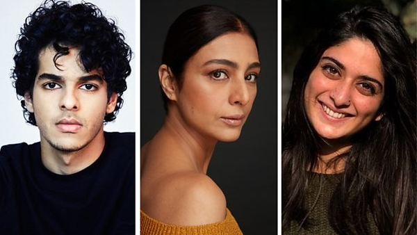 From left to right: Ishaan Khatter, Tabu, Tanya Maniktala (Credit: BBC)