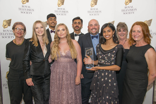 The Ackley Bridge Team pose with their award (Credit: Paul Harness Photography)