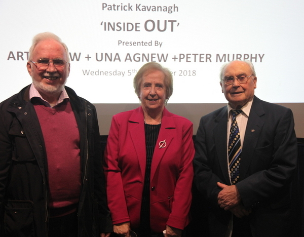 Art Agnew and Dr Una Agnew and Peter Murphy gave the Presentation (Credit: George Adjaye)