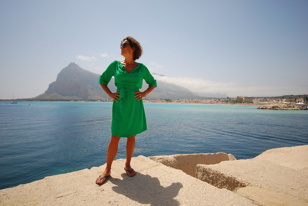 Alex Polizzi in San Vito on her trip around Italy's islands