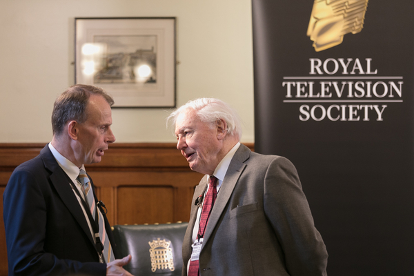 David Attenborough and Andrew Marr (Credit: Paul Hampartsoumian)