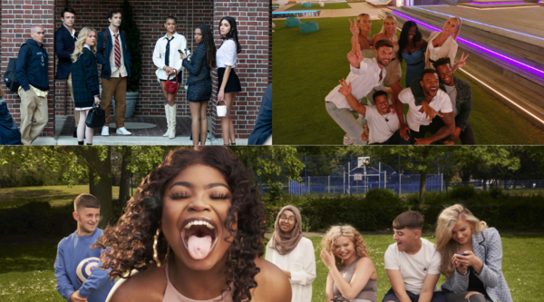 Gossip Girl (Credit: BBC), Love Island (Credit: ITV), Sixteen: Class of 2021 (Credit: Channel 4)