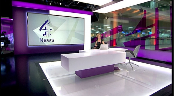 Channel 4 News anchor Cathy Newman in the studio (Credit: Channel 4 News/ITN)
