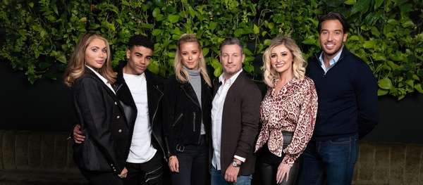 Amy Childs, Malique Thomson, Olivia Bentley, Dean Gaffney, Amy Hart, James Lock (Credit: Channel 4)