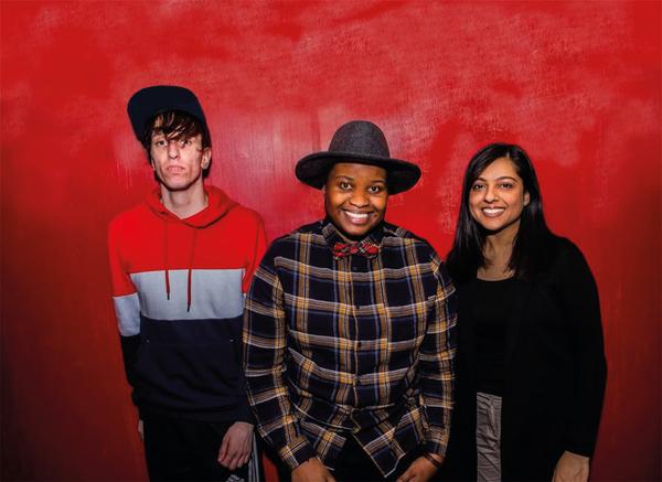 Ross Willis, Lettie Precious and Rabiah Hussain (Credit: Kudos)
