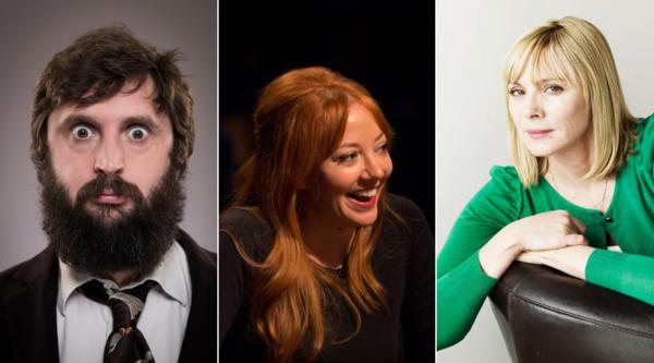 Joe Wilkinson, Diane Morgan and Kim Cattrall star in The Cockfields (Credit: UKTV)