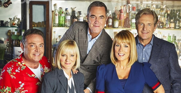 Pete (John Thomson), Karen (Hermione Norris), Adam (James Nesbitt), David (Robert Bathurst) and Jenny (Fay Ripley) (Credit: ITV)