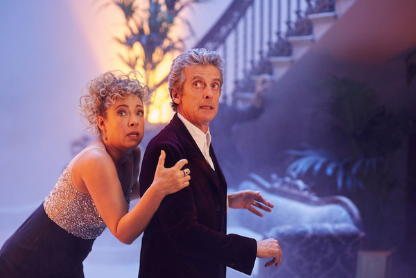 Alex Kingston and Peter Capaldi in Doctor Who (Credit: BBC)