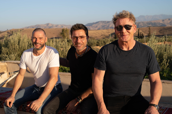 Fred Sirieix, Gino D'acampo and Gordon Ramsay (Credit: ITV/ Justin Mandel/ Studio Ramsay)