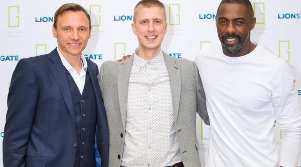 Lionsgate UK and Europe CEO Zygi Kamasa, Write to Green Light winner Matthew Kirton and actor and Greendoor Pictures CEO Idris Elba (L-R) (Credit: Greendoor Pictures)
