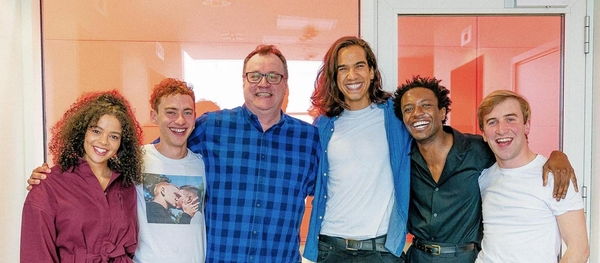 Russel T Davies and the cast of Boys (Credit: Channel 4)