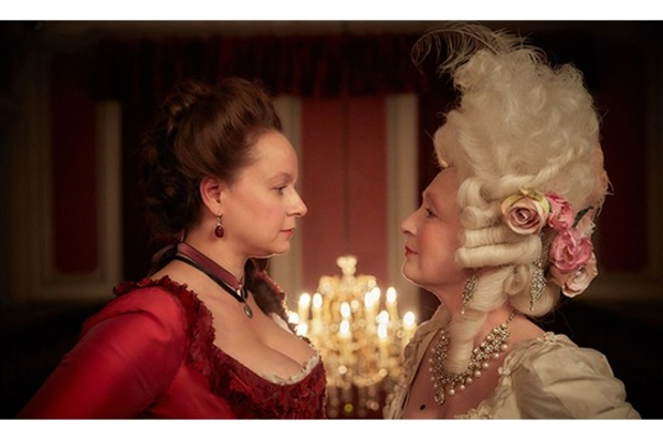 Samantha Morton and Lesley Manville star in Harlots (Credit: Amazon)