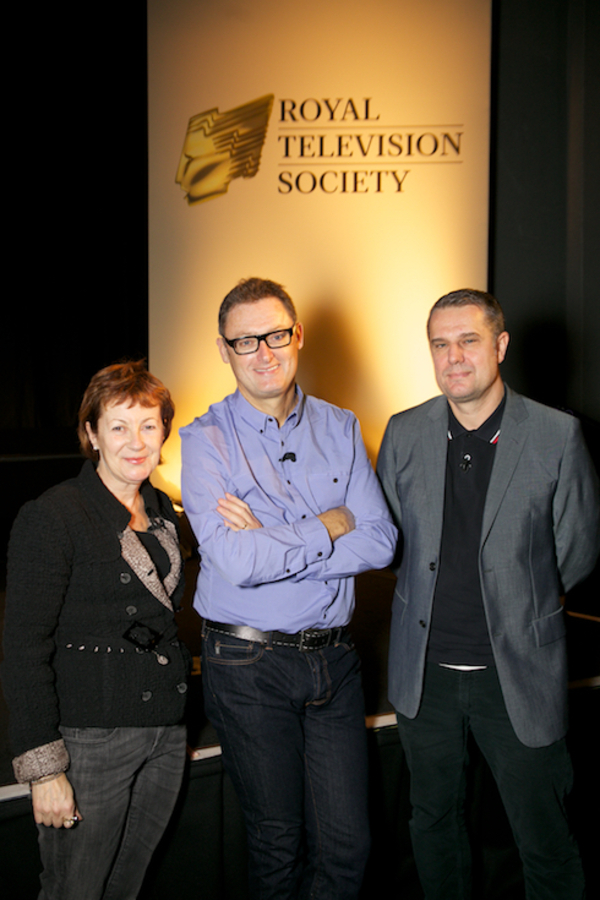 At the RTS masterclasses November 2015, from left to right: Carolyn Reynolds, Jeff Pope and Jon Mountague