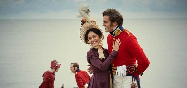 Olivia Cooke and Tom Bateman star in ITV's Vanity Fair (Credit: ITV)