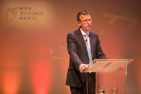 Jeremy Wright MP talking at the RTS London Conference (Credit: RTS/Paul Hampartsoumian)