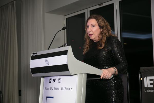 Kay Mellor receiving her RTS fellowship (Credit: Paul Hampartsoumian)
