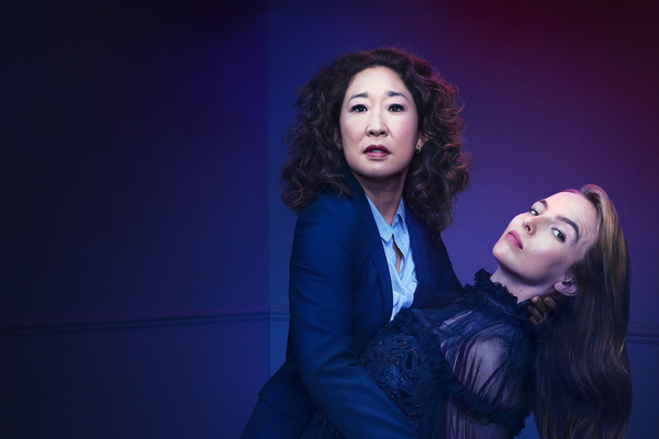 Eve Polastri (Sandra Oh) and  Villanelle (Jodie Comer) (Credit: BBC/BBC America/Sid Gentle Films)