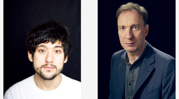 Director Will Sharpe and co-lead David Thewlis (credit: Sky)