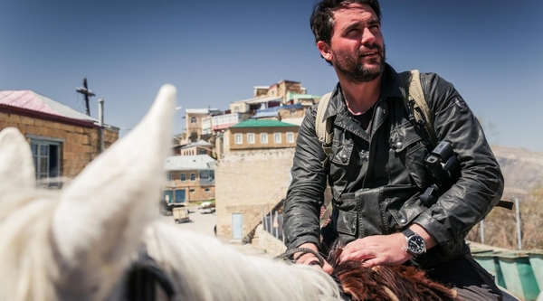 Levison Wood crossing the Caucuses (Credit: Simon Buxton)