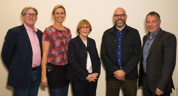 Panellists Adrian Dunbar, Priscilla Parish, Anne Robinson, Simon Heath and Jed Mercurio (Credit: RTS/Paul Hampartsoumian)