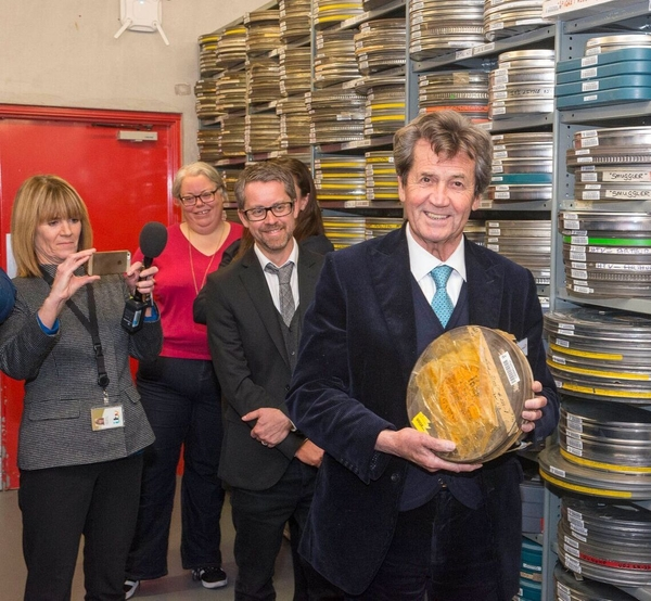 Melvyn Bragg touring the ITV Archives with RTS Yorkshire (Credit: RTS / Paul Harness)