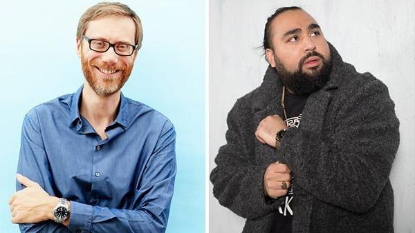 Stephen Merchant and Asim Chaudhry (Credit: BBC)