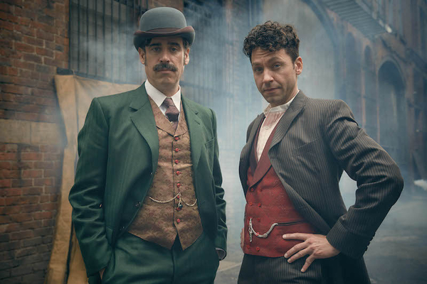 Michael Weston as Harry Houdini and Stephen Mangan Arthur Conan Doyle star in Houdini and Doyle
