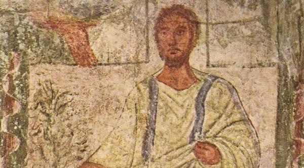 A wall painting of Moses and the Burning Bush (Credit: Dura Europos Synagogue)
