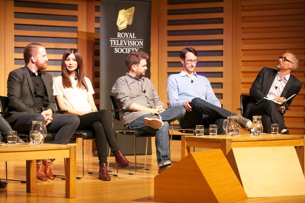 The panel at Humans: Anatomy of a Hit (Credit: Paul Hampartsoumian)